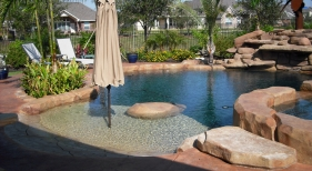 Freeform Pool with Beach Entry