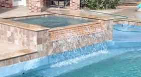 Geometric Pool with Waterfall