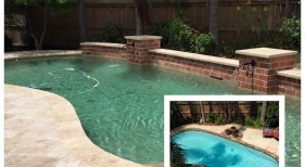 Freeform Pool with Scupper