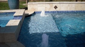 Geometric Pool and Spa with Bubblers