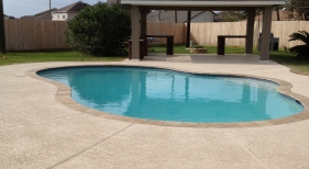 Freeform Pool with Patio Cover