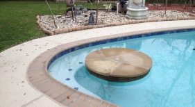 Freeform Pool with Cocktail Table