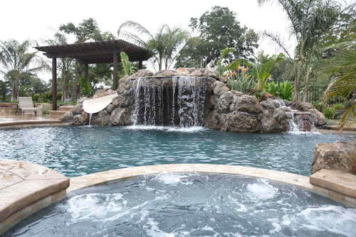 Water Features Can Bring A Whole New Dimension To Your Backyard Pool. From  Something Like A Simple Laminar To A More Extravagant Feature Like A  Natural ...  Houston Pool Design