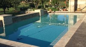 Geometric Pool with Pergola