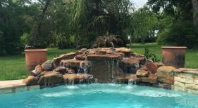 Freeform Pool with Rock Waterfall