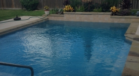 Geometric Pool with Bench