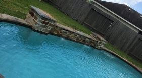 Freeform Pool with Sheer Descent