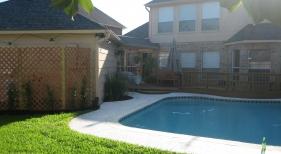 Freeform Pool with Pool House