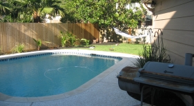 Freeform Pool with Grilling