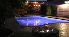 Freeform Pool with Led Lighting