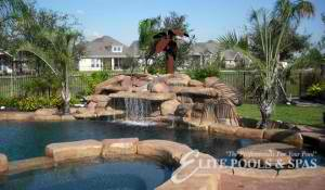 rock feature elite pools houston pool design